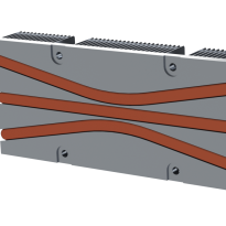 Heat pipe spreader render