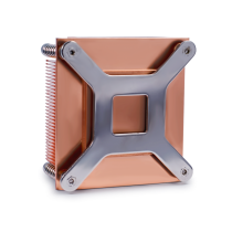 Skived copper fin heatsink with backplate