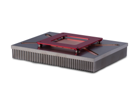 Embedded heat pipes in pin fin