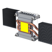 Heat pipe assembly render