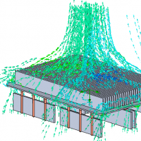 Airflow heat pipe simulation