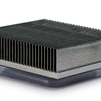 Skived fin heat sink assembly