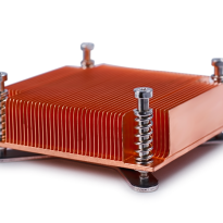 skived fin heatsink with backplate