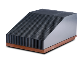 Copper base bonded fin heatsink
