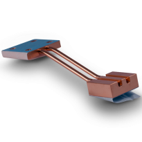 Heat pipes to chassis